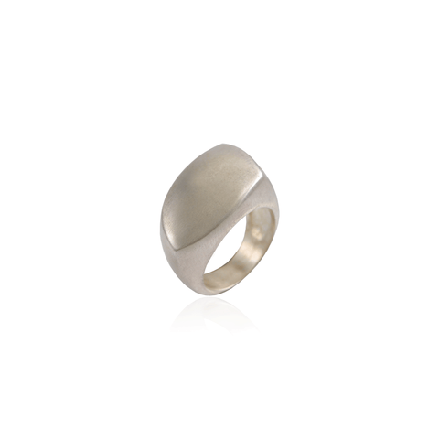 Matte Asymmetrical Rectangular Ring