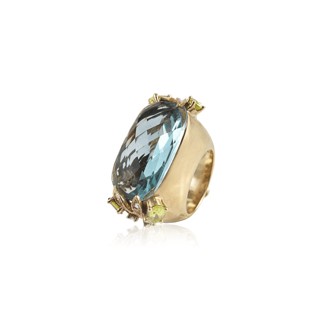 Blue Topaz Oval Ring