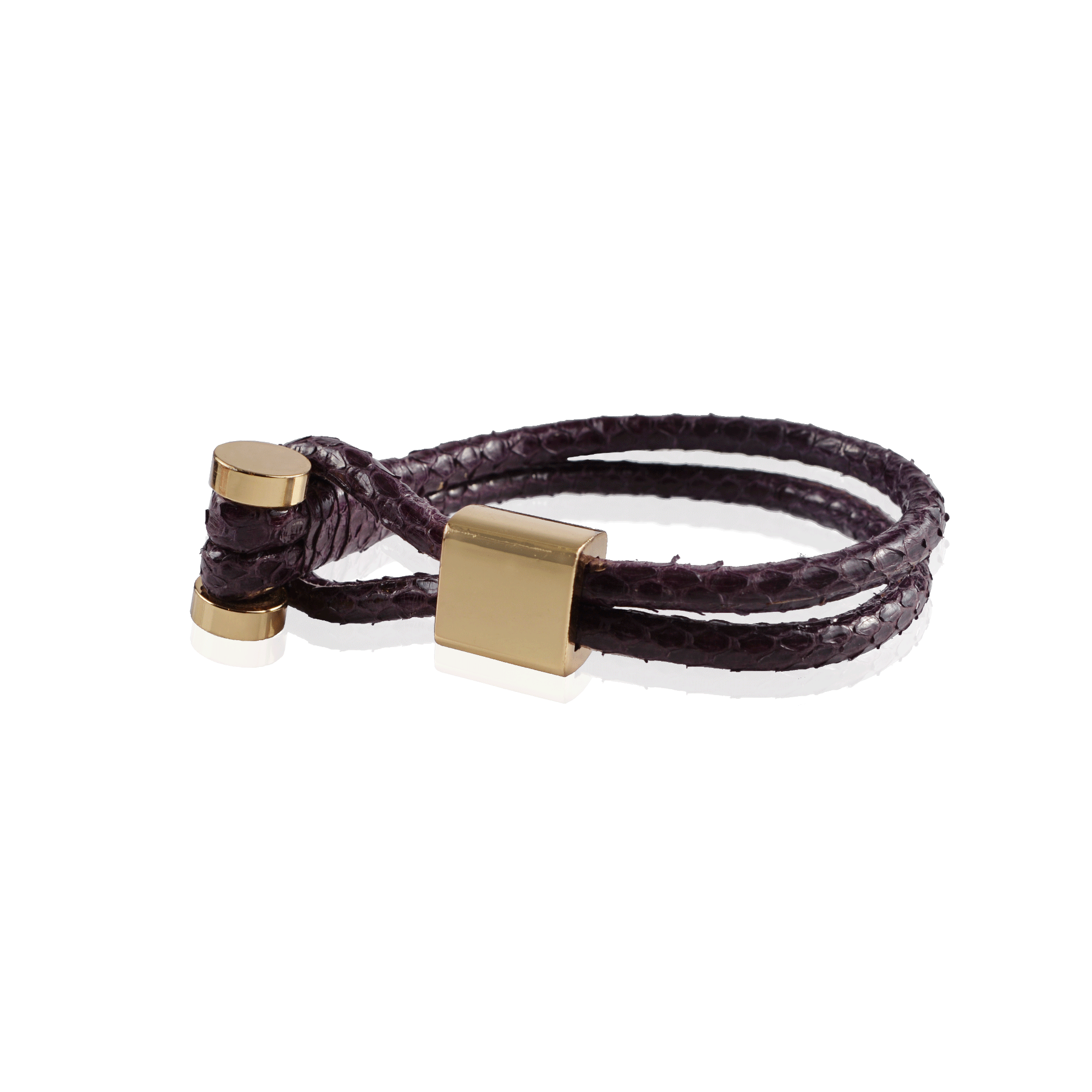 Purple Snake Skin Toggle Bracelet