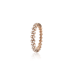 SERAFINO CONSOLI - WHITE Diamonds - ROSE Gold -  Expanding Ring