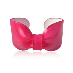Bright Pink Candy Ribbon Cuff