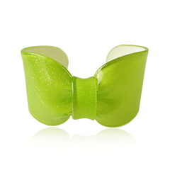 Lime Sparkle Candy Ribbon Cuff