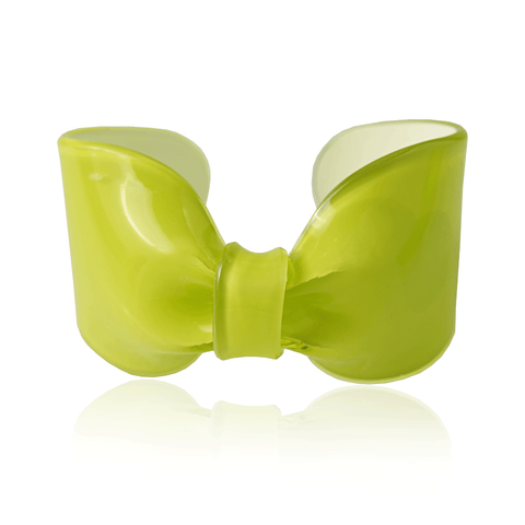 Lime Candy Ribbon Cuff