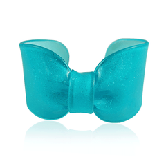 Turquoise Sparkle Candy Ribbon Cuff