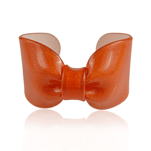 Orange Sparkle Candy Ribbon Cuff