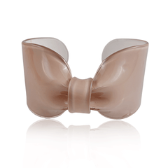 Taupe Candy Ribbon Cuff