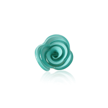 Load image into Gallery viewer, Aqua Lucite Floral Boutonniere