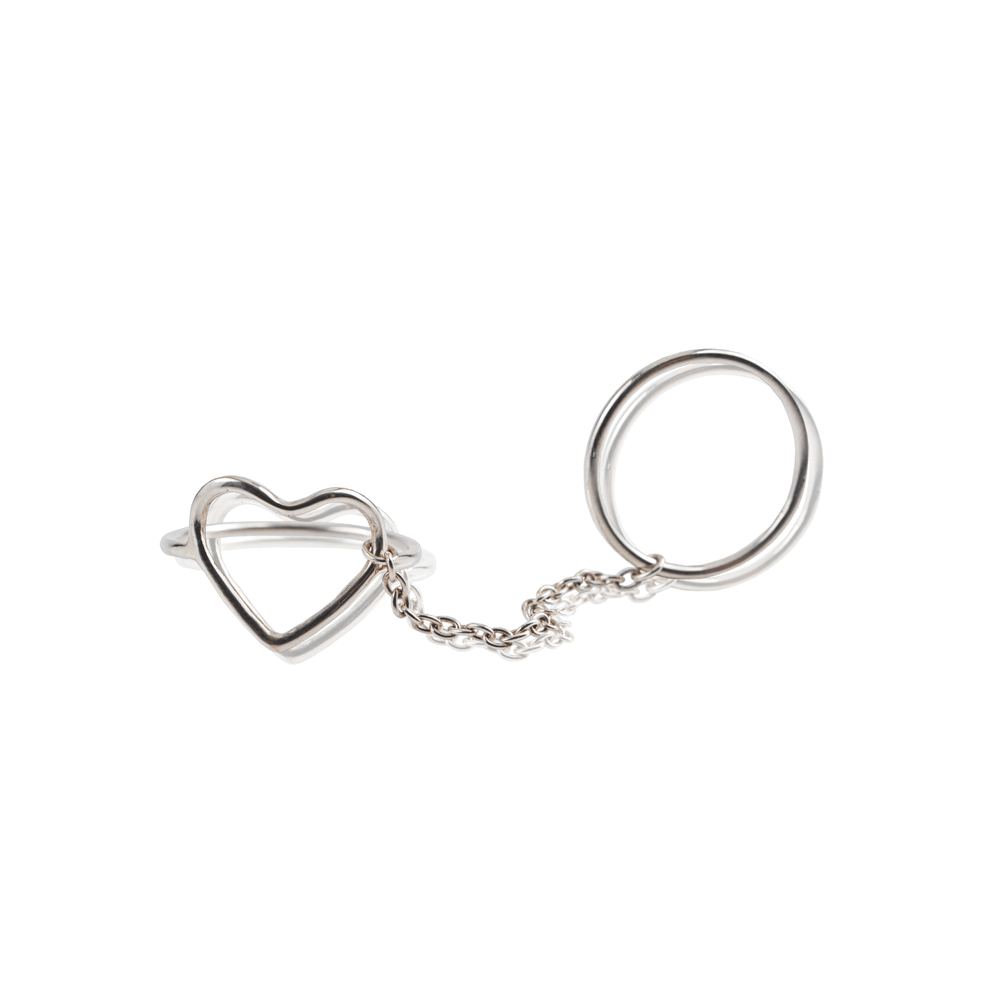 Silver Double Heart Ring