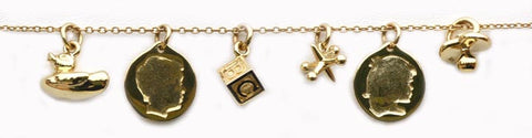 Boy or Girl Profile Charm in Gold