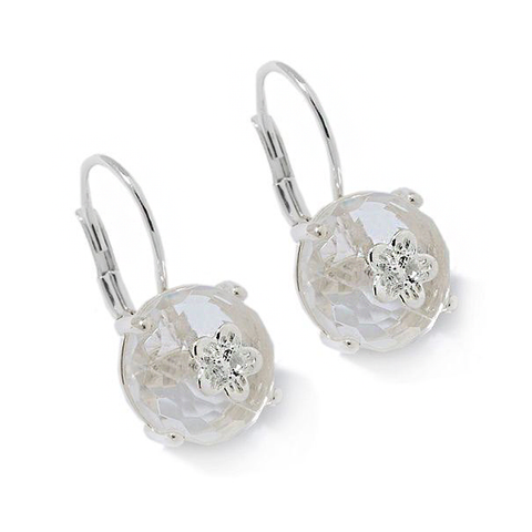 Clear Quartz Bon Bon Earrings