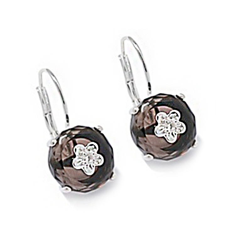Smokey Quartz Bon Bon Earrings