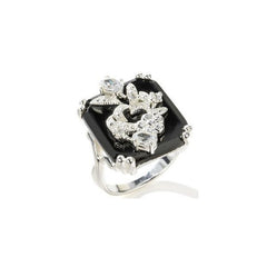 Black Onyx Peekaboo Ring