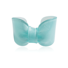 Aqua Sparkle Candy Ribbon Cuff