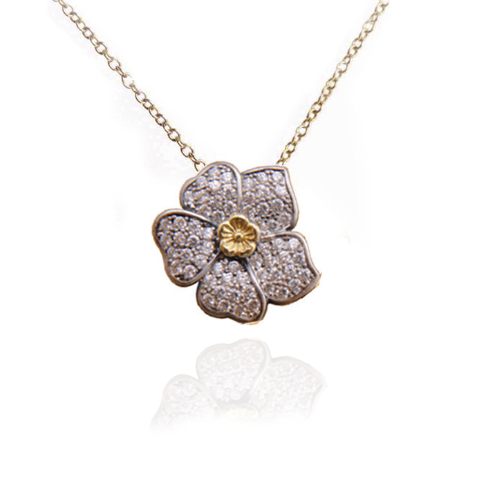 LUSH Enhancer Floral Pendant Necklace