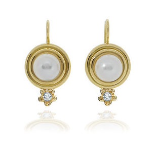 Mabe Pearl Leverback Earrings