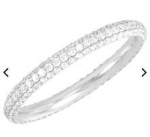 Load image into Gallery viewer, WHITE Diamond - Micro Pave Eternity Band