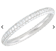 WHITE Diamond - Micro Pave Eternity Band