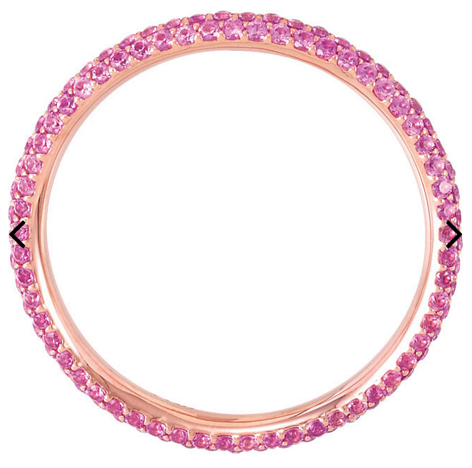 Micro Pave Rose Gold - Pink Sapphire Eternity Band