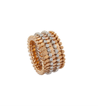 Load image into Gallery viewer, SERAFINO CONSOLI White Diamonds 18KT Gold Ring to Bracelet S.RB7M2RG WD
