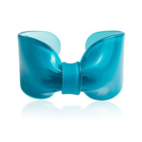 Teal Candy Ribbon Cuff