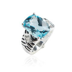VICTORY Blue Topaz  Pace Ring