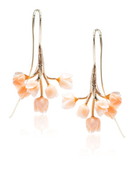 Vintage Coral Flower Earrings