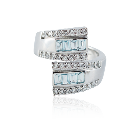 "2015 $199 Blue Topaz ""Hug"" PACE Ring"