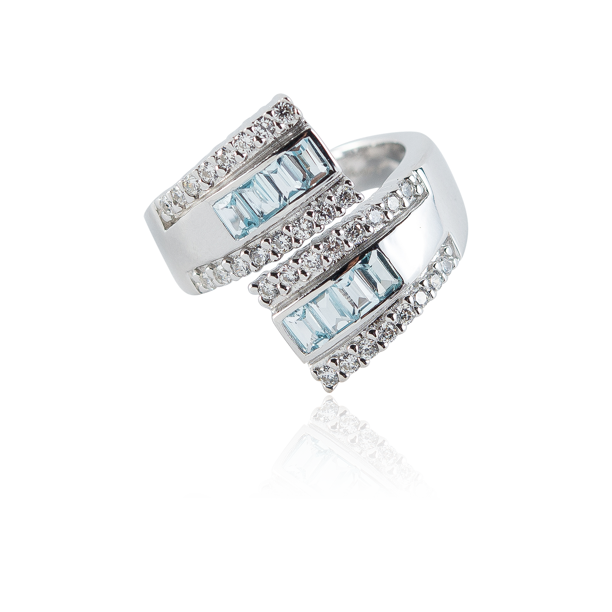 Blue Topaz HUG PACE Ring