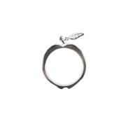 Sterling Silver Apple Ring