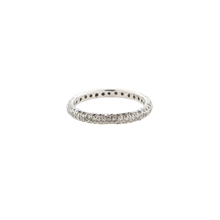 Load image into Gallery viewer, 3 Row Micro Pave' -  3/4 around -  Diamond Band