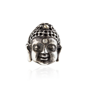 Buddha Ring in Sterling Silver with Diamond Third Eye