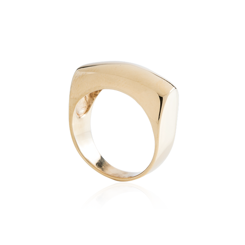 Gold Bar Dome Ring