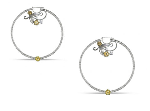 LUSH Hoop Earring with Diamonds and 18KT Gold