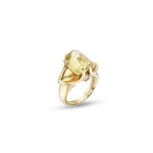 Load image into Gallery viewer, Citrine Ring set in 18KT Brushed Green Gold