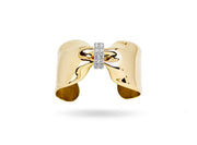 Gold Diamond Candy Ribbon Cuff