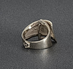 Warrior Ribbon Ring Sterling Silver