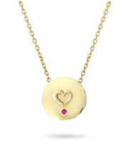 We love our Beach Sunsets Necklace - Reversible 14k Gold with Diamonds