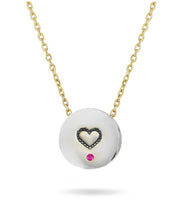 We love our Beach Sunsets Necklace - Reversible Sterling Silver & 14k Gold with Diamonds