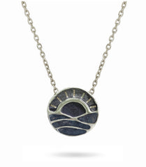 We love our Beach Sunsets Necklace - Reversible  Sterling Silver
