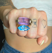 A JARON Mod World Amethyst Ring