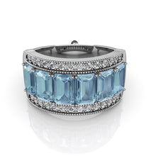 Load image into Gallery viewer, Blue Topaz C.L.A.U.D.I.N.E. PACE Ring