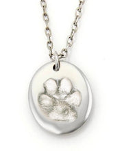 Load image into Gallery viewer, Sterling Silver Dog Paw Necklace on Long Chain