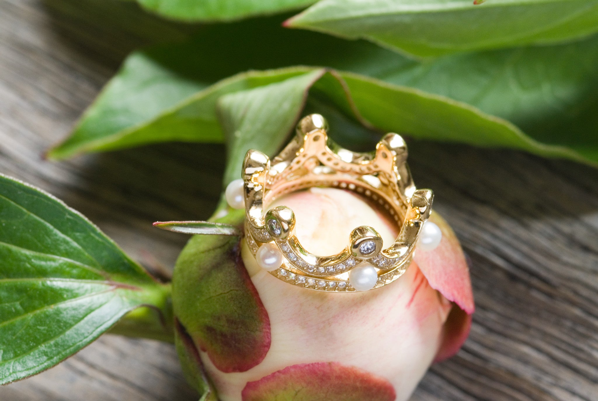 Sterling Silver Queen Crown Ring