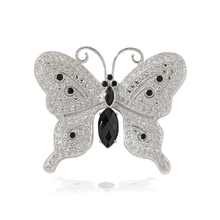Load image into Gallery viewer, Sterling Silver and Black Onyx Butterfly Ring