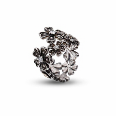 Sterling Silver and White Topaz LUSH Daisy Chain Ring