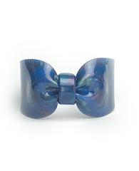 Candy Ribbon Cuff Bracelet Navy Blue Opal