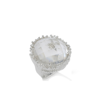 Load image into Gallery viewer, Original Cupcake Ring Clear Quartz