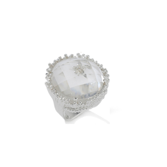 Original Cupcake Ring Clear Quartz
