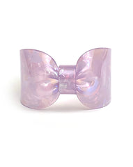 Candy Ribbon Cuff Bracelet Purple Opal