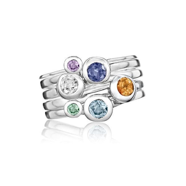 SoHo Stackable Birthstone Family Rings